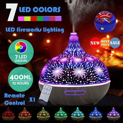 Ultrasonic LED Aromatherapy Diffuser Aroma Essential Oil Air Humidifier Purifier