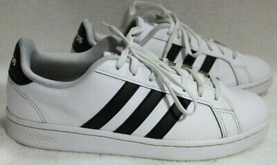 Adidas Grand Court Shoes Sneakers White Black Leather  Men's Size 9.5