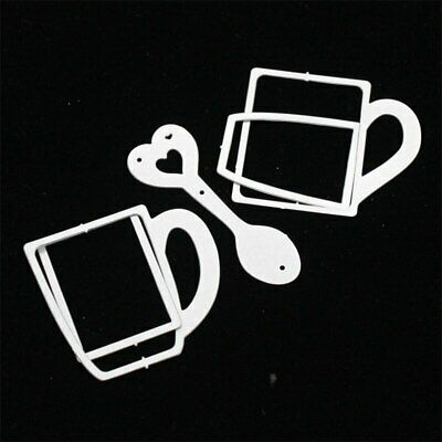Coffee Mug Shaker Tag Transparent Clear Silicone Stamp, Cutting Dies DIY card