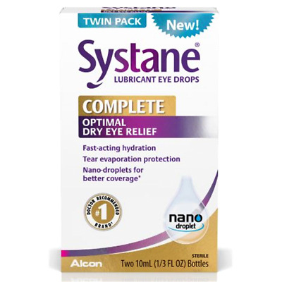Lot 3 Boxes Systane Complete Lubricant Eye Drops 2x10mL Bottles Each