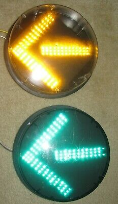 GE LED Yellow Street Light Signal LED Traffic ManCave DR6-YTFB-17A-YX1 6974