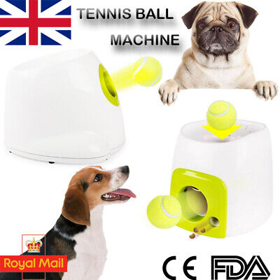 Automatic Launch Tennis Ball Interactive Pet Dog Treat Toy Fetch Hyper Training
