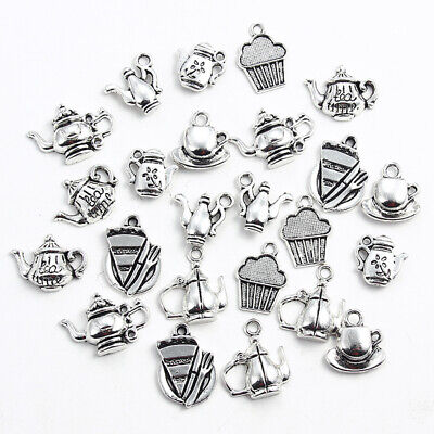 20Pcs Antique Sliver Vintage Kettle Charms Teapot Pendant DIY Necklace Bracelet