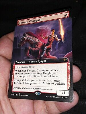 Fervent Champion (Extended Art) - MTG Magic The Gathering - Throne of Eldraine