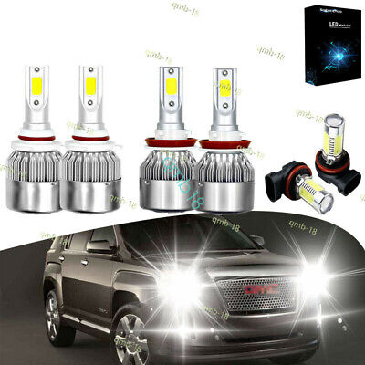 6x For GMC Terrain 2010-2015 LED Headlight Bulb Fog Light 9005 H11 Combo Bulbs