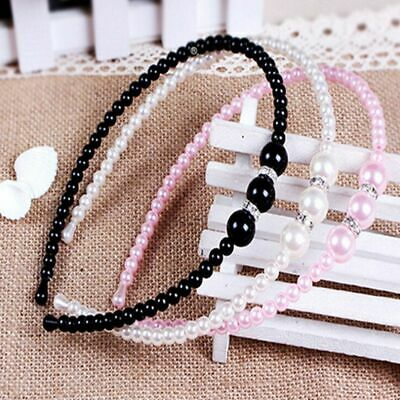 Korean Fashion Rhinestone Headband Girls Pearl Crystal Hairband Bow Knot Tiara