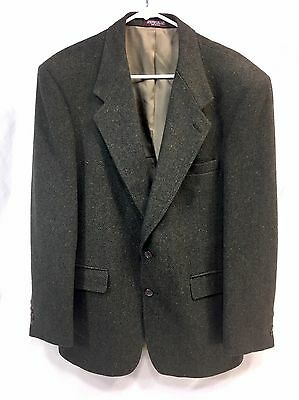 Evan Picone 2 Button 100% Pure Wool Blazer Jacket Suit Coat Mens Green USA Made