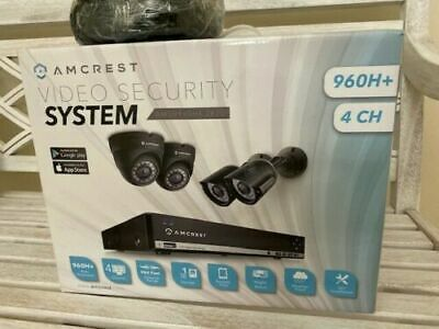 Amcrest 650 TVL 4CH Video Security System w// 500GB 4X Bullet Cameras Refurbished