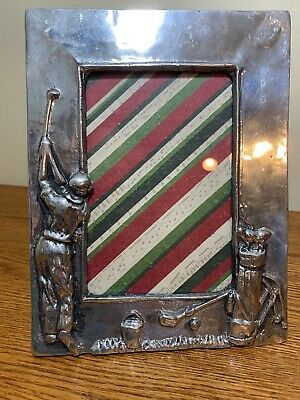 Solid Pewter Metal Picture Frame BASKET BALL Theme Holds 3-1//2 x 5 picture
