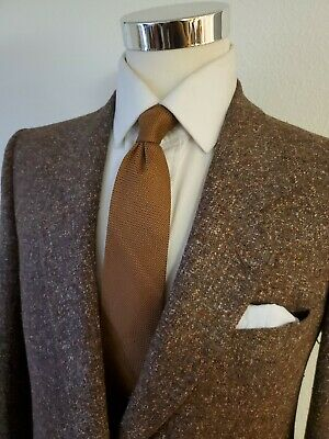 Conte Di Roma Brown Tweed Speckled Wool Tweed Sportcoat Made in Italy 42R