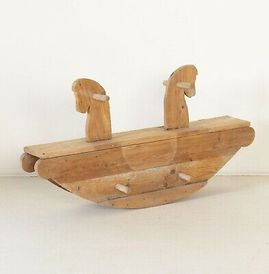Child's Antique Wooden Rocking Horse or Seesaw