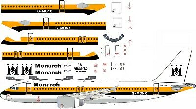 Monarch 1990s Livery  A320  airliner Decal (1:144 scale) For Revell/Zvezda kit