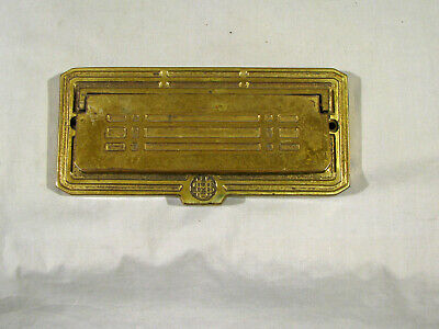 Old Solid Brass Mail Slot