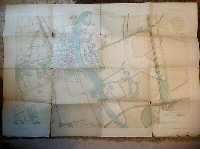 1903 Large 5000:1 Street MaP Choisy Le Roi Paris France  High Detail by building