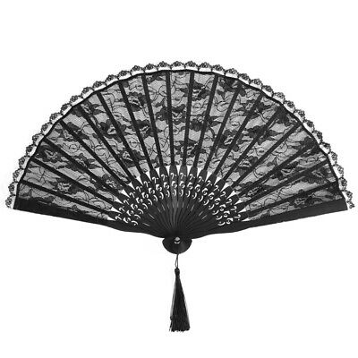 Retro Spanish Victorian Lace Hand Fan for Wedding Party Favor Fancy Dress Gift