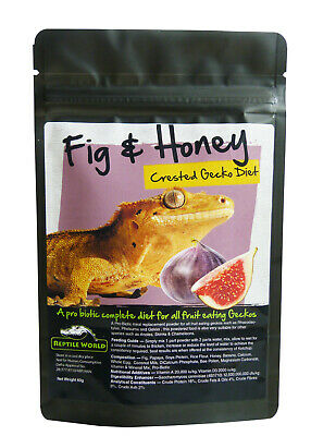 Reptile World Fig & Honey Complete Gecko Diet 60g (2.1oz) - Crested Gecko Food
