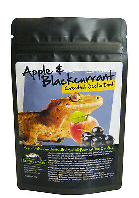 Reptile World Apple & Blackcurrant Gecko Food - Complete Diet - Crested Gecko