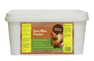 Poultry World Red Mite Powder - Diatomaceous Earth, Chicken Mites, Food Grade