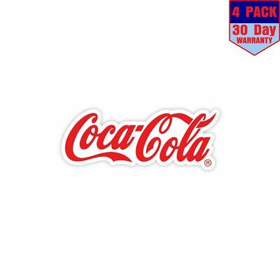 Coca Cola Coca Cola 4 Stickers 4x4 Inch Sticker Decal