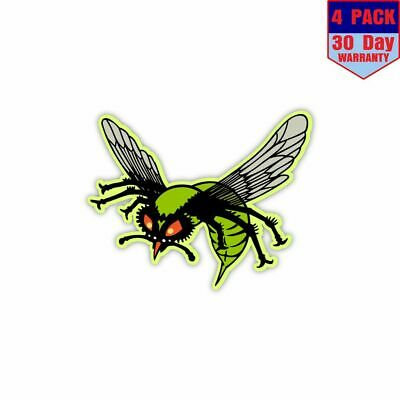 Green Hornet 4 Stickers 4x4 Inch Sticker Decal