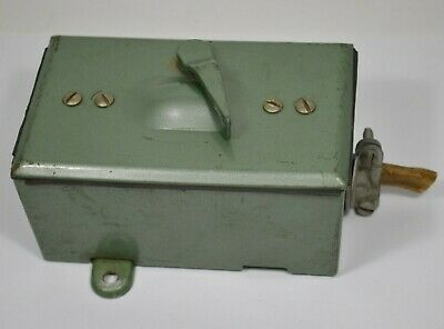 Vintage Retro Green Electrical Outdoor Light Switch Bell Box