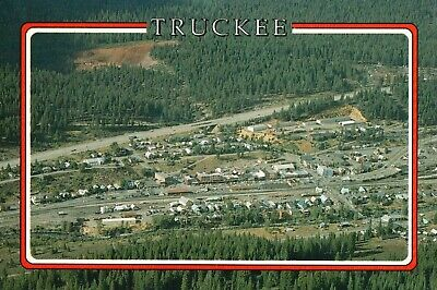 Aerial View of Truckee, Residential & Business View. Vintage Postcard A26
