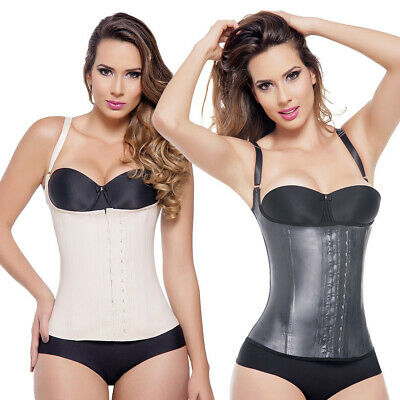 Shapes Your Waist Colombian Ann Michell 2028 Semi Vest Latex 2 Hooks