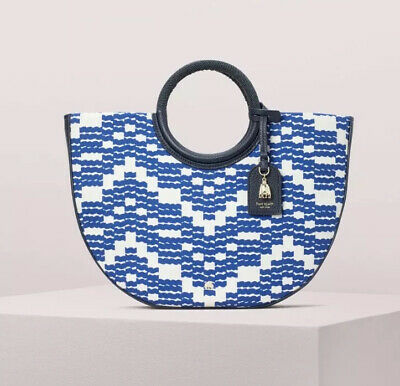 KATE SPADE ON PURPOSE NORTH SOUTH or HALF CIRCLE TOTE or WRISTLET NWT BLUE WAVE