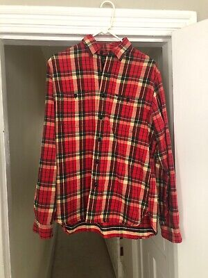 ***Polo Ralph Lauren Country Adirondack Flannel Shirt Red Size medium 2019