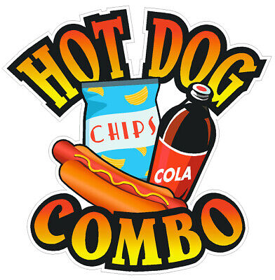 Hot Dog Combo Vinyl Decal (Choose A Size)