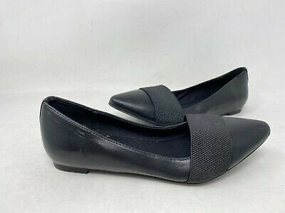 NEW! Vera Wang Women's May SlipOn Pointed Toe Dress Flats Black #112913 196KL tk