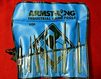 Armstrong Industrial Hand Tools 7 Piece Drift Pin Punch Set Made in USA
