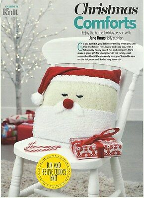 Knitting Pattern For A Father Christmas Cushion Cover