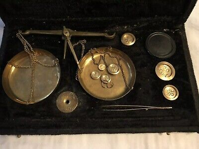 Antique Set Of Miniature Weighing Scales