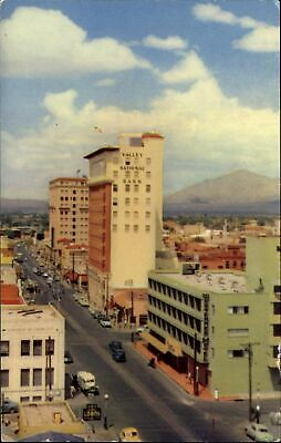 Tucson Arizona Stone Avenue Valley National Bank ~ 1950s cars vintage postcard