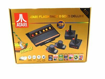 Atari Flashback 8 Gold Deluxe HD Classic Gaming Console with 120 Built-in Games