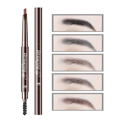 LN_ ALS_ Double Head Long Lasting Waterproof Automatic Makeup Eyebrow Pencil C
