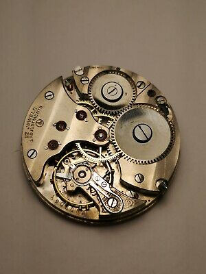 High Grade Swiss Minerva Pocket Watch Movement - 17 Jewels, 4 Adjustments (B30)