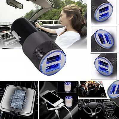 Mini Dual USB Twin Port 12V Universal In Car Lighter Socket-Charger Adapter C4E5
