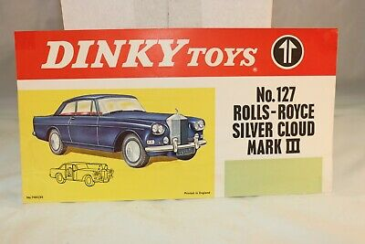 Dinky Toys Poster 127 Rolls-Royce Silver Cloud Mark III in excellent+ condition