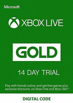 Xbox Live Gold 14 Days Trial Keys (Xbox One) - Global INSTANT 24/7 Delivery