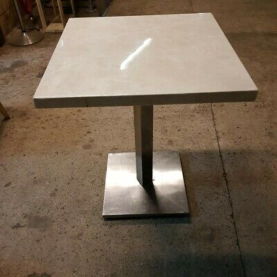 White Marble Bistro / cafe tables 15, Used Collection Only