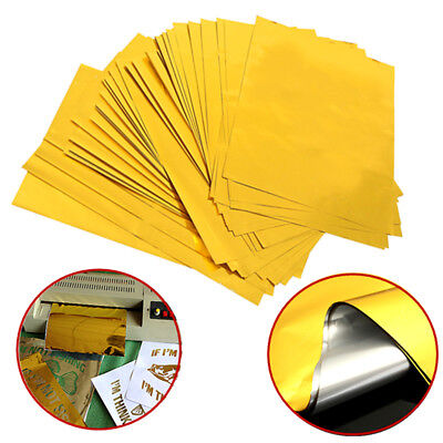 100x Sheets A4 28.5x20.5cm Laser Printer Hot Laminator Gold Transfer Foil Paper