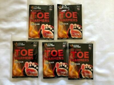 5 Pairs of Little Hotties Toe Warmers For Winter Outdoor Cold Feet 5 Hours