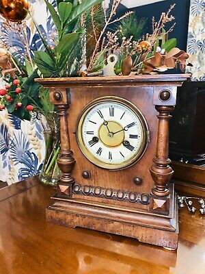 Gorgeous Oak Cased 14 Day Strike Clock by HAC of Wurttenberg Circa 1920-30