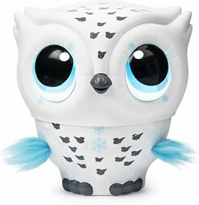 Owleez Flying Baby Owl Interactive Toy w/ Lights/Sound (White) - NEW | UNOPENED