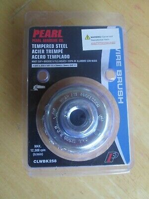 New - PEARL Abrasive CLWBK 258 Knot Cup Wire Brush w/ Tempered Wire 2 3/4""