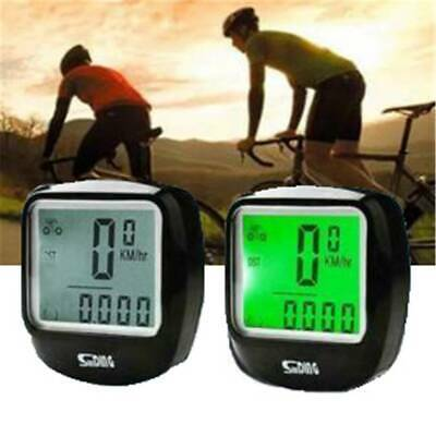 Wired LCD Digital Cycle Computer Backlight Speedometer Odometer  Bicycle Bike~~