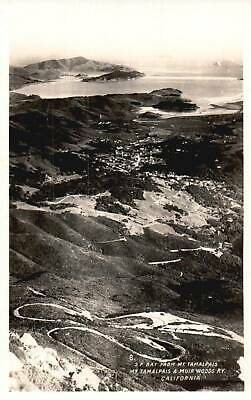 Aerial View, S.F Bay From Mt.Tamalpais, Mt. Tamalpais &Muir Woods Ry PostcardA50