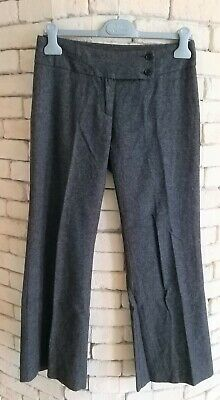 Benetton Vintage 90s Dress Pants Gray Woolen Cotton Blend Size XS IT 40 US 4 -6